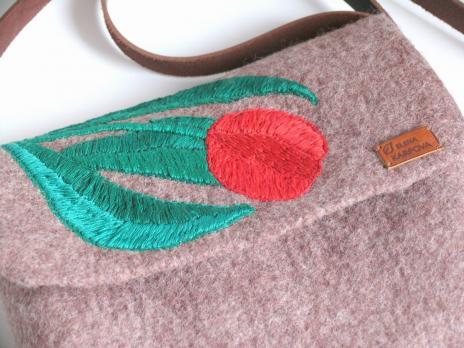 Валяная сумка Тюльпан