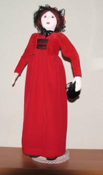 Авторская кукла Леди в красном