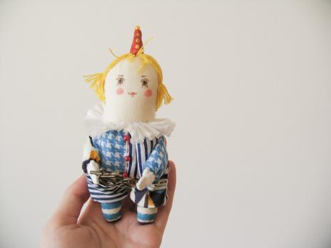 Елочная игрушка «Клоун Мика»