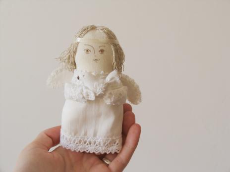 Авторская текстильная кукла «Ангел»