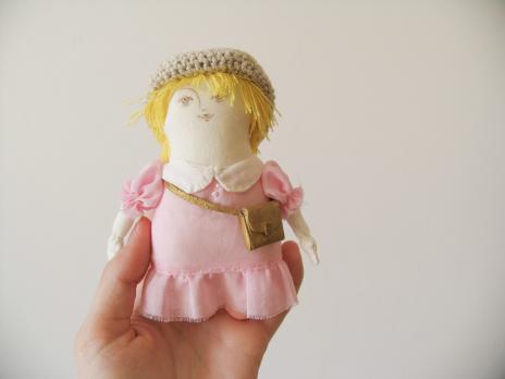 Авторская текстильная кукла «На прогулку»