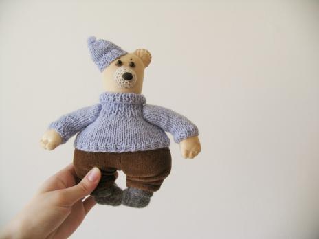 Авторская текстильная кукла «Пошли кататься»
