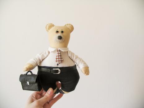 Авторская текстильная кукла «В офис»