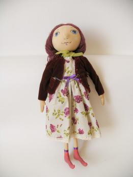 Авторская текстильная кукла «Вишенка»