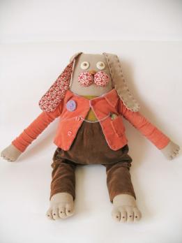 Авторская текстильная кукла «Заяц»