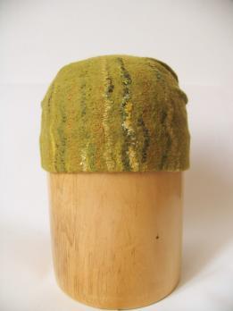 Валяная шапка «Нежная зелень»